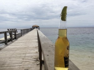 Tropical Pier Beer Bottle foreground